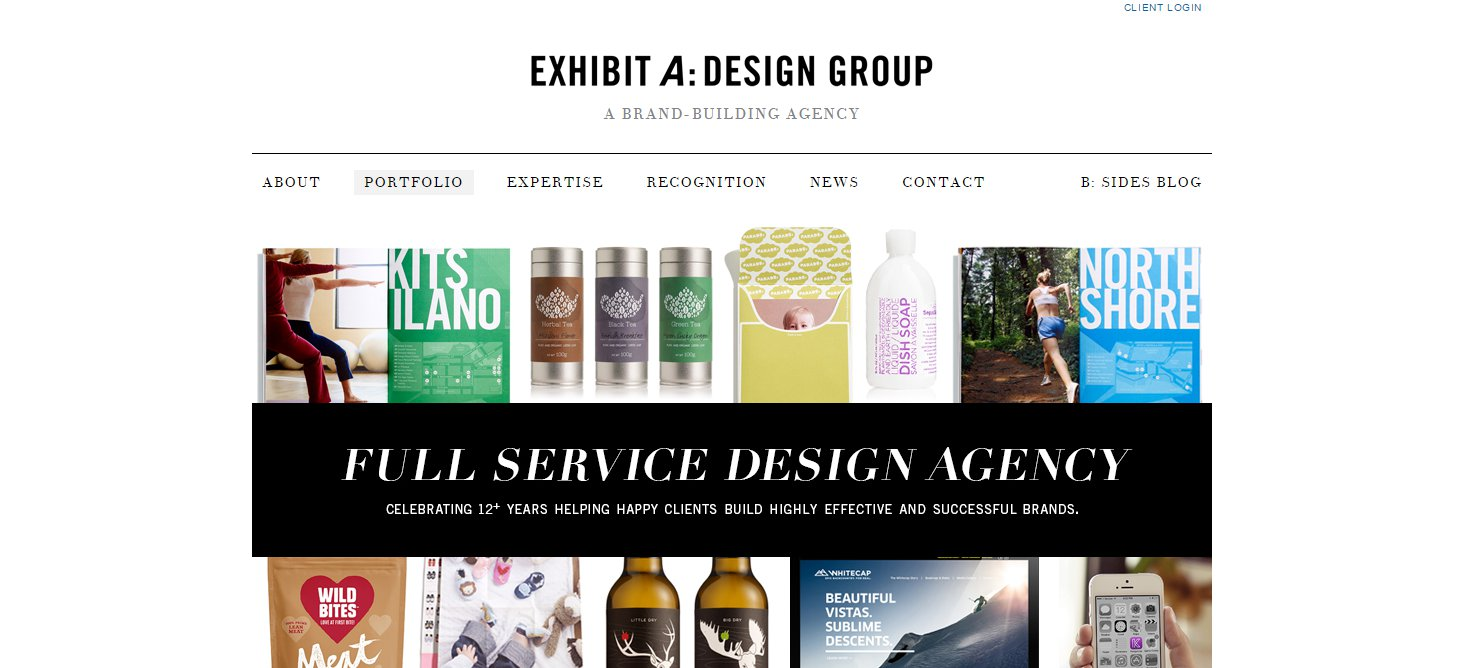 f9b7d8832701 You can always tell a design agency by their website – it s beautifully  designed